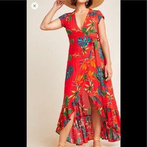 Anthropologie Santiago Wrap Maxi Dress